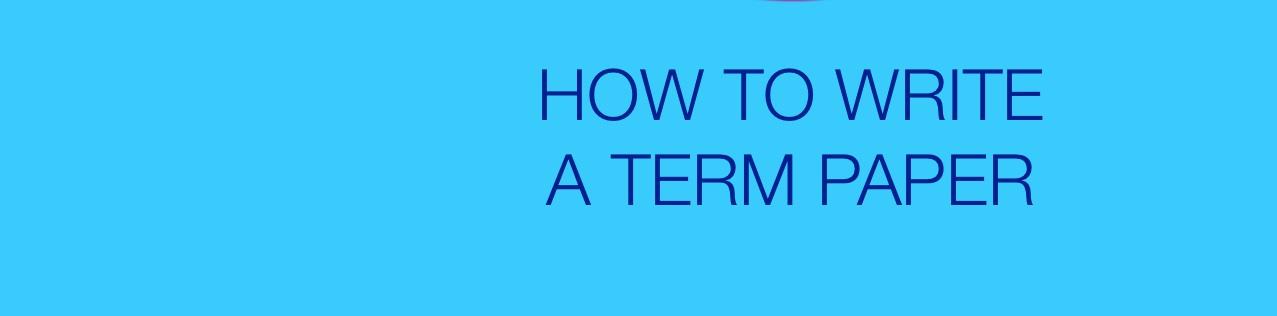 Write My Term Paper Online